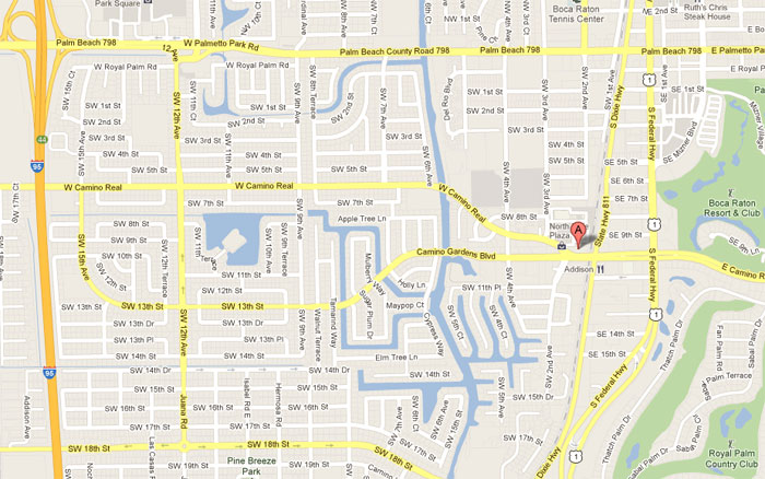 Map of the area around the credit union